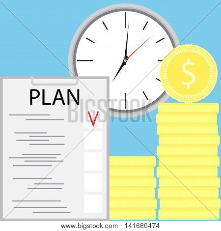 Planning earning money. Make money and earning potential vector illustration