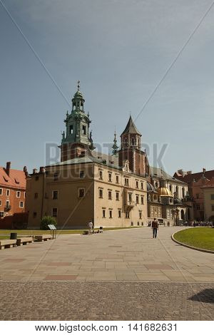 View Of The Cathedral Of St Stanislaw And St Vaclav On The Wawel Hill, Poland