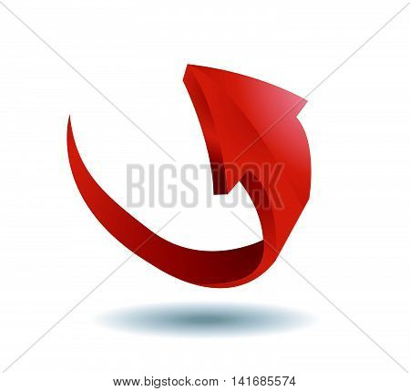 Arrow sign vector illustration on white background