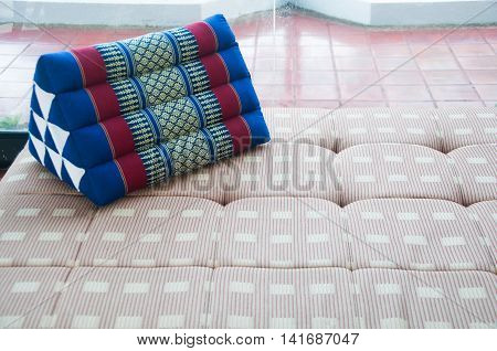 Thailand scatter cushion on bed in riving room