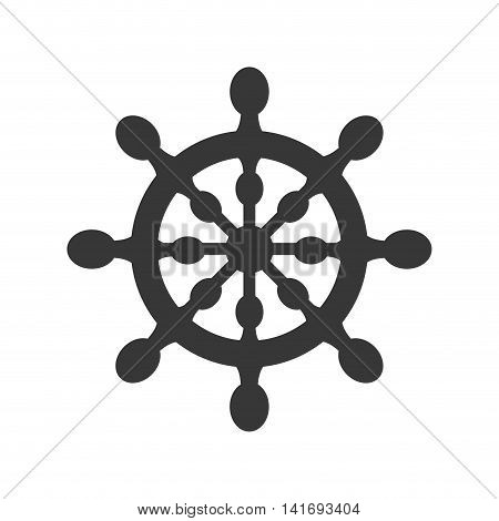 rudder sea lifestyle nautical marine  icon. Isolated and flat illustration. Vector graphic