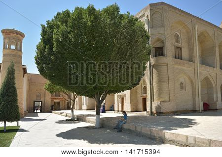 Bukhara Uzbekistan - August 05 2015: The MEMORIAL COMPLEX of BAHAUDDIN NAQSHBANDI (1318-1389) is a center of pilgrimage as it was worshipped not only in Bukhara but also in the whole Islamic world.
