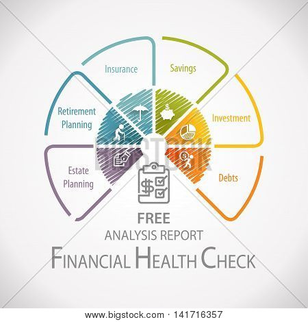Financial Health Check Analysis Planning Report Infographic