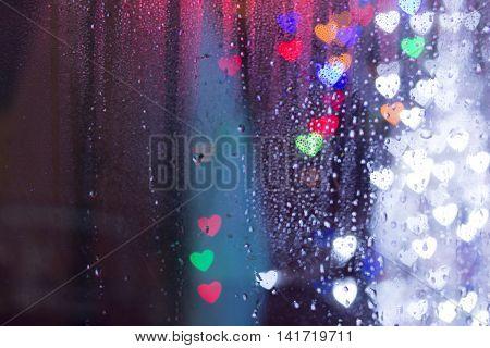 Colorful Bokeh Hearts