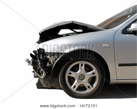 damaged car