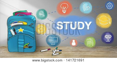 Learn And Lead Research Knowledge Graphic Concept
