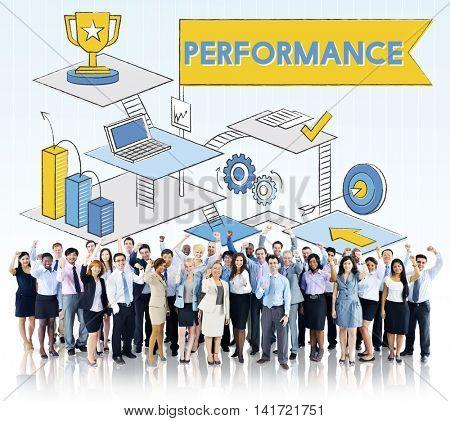 Performance Level improvement Efficiency Review Concept