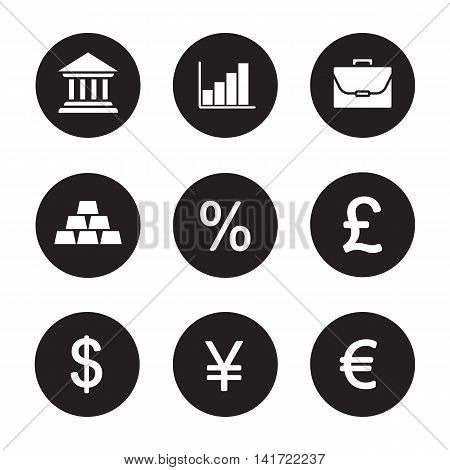 Banking Finance Icons Vector Photo Free Trial Bigstock