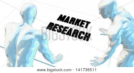 Market Research Discussion and Business Meeting Concept Art 3d Illustration Render