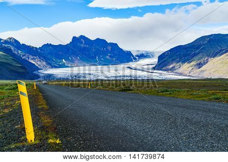 Vatnajokull the largest glacier in Iceland located in the south-east of the island covering more than 8 percent of the country