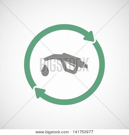Isolated Reuse Icon With  A Gas Hose Icon