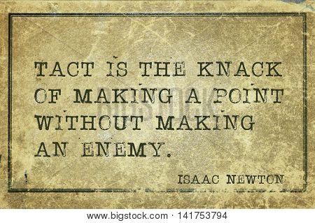 Tact Is Knack Newton