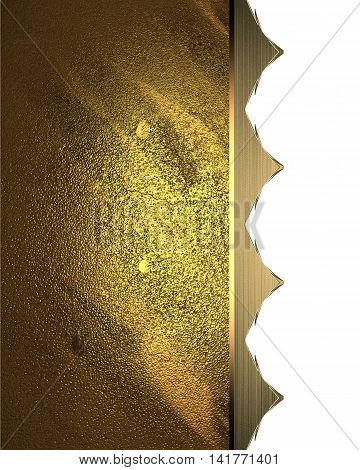 Abstract Golden Background With An Ornament. Template For Design. Copy Space For Ad Brochure Or Anno