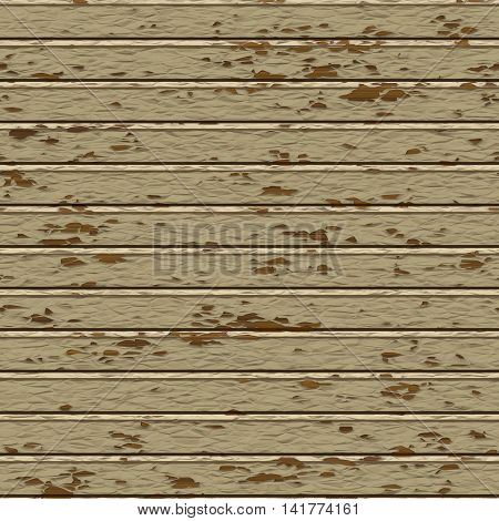 Seamless painted brown wood plank texture background