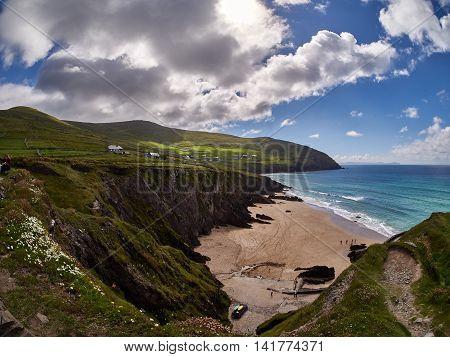 Little beach near Slea head in Dingle, Ireland