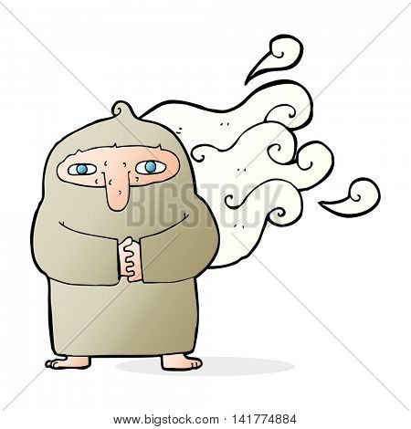 cartoon smelly monk