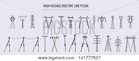 Electricity Pylon High Voltage_1