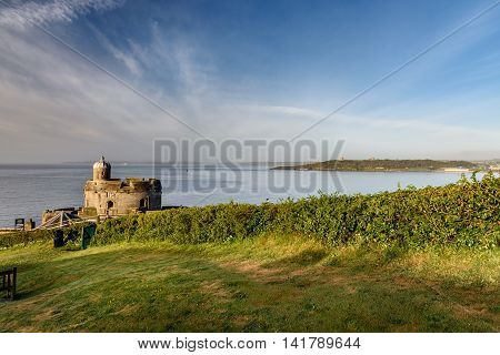 St Mawes Castle is an artillery fort constructed by Henry VIII near Falmouth Cornwall UK