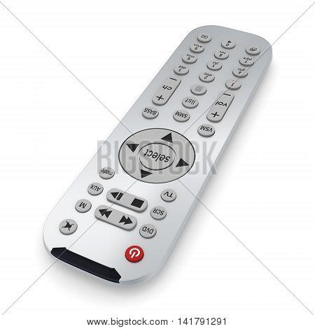 3D Rendering Tv Remote