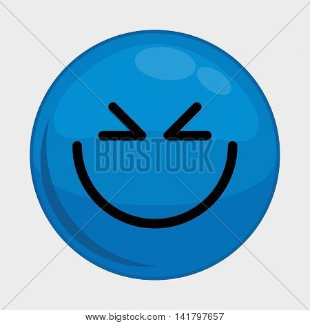 Cartoon design represented by expression face icon. Colorfull and isolated illustration.