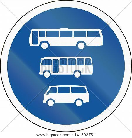 Road Sign Used In The African Country Of Botswana - Buses, Midi-buses And Mini-buses Only