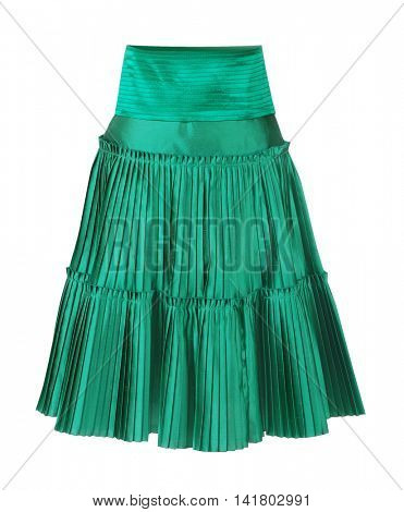 green skirt isolated on white background