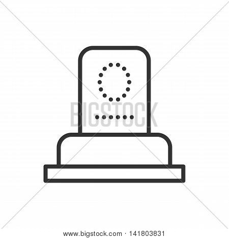 Grave thin line icon. Thin line vector illustration