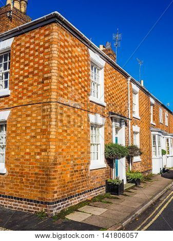 A Row Of Terraced Houses Hdr
