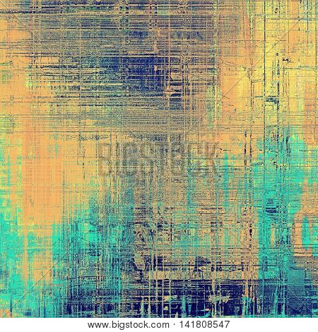 Retro design composition, grunge background or textured backdrop. With different color patterns: yellow (beige); brown; blue; red (orange); cyan