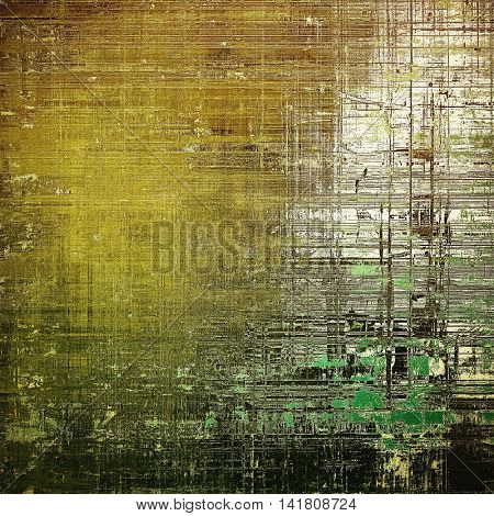 Shabby texture or background with classy vintage elements. Grunge backdrop with different color patterns: yellow (beige); brown; gray; green; black; white