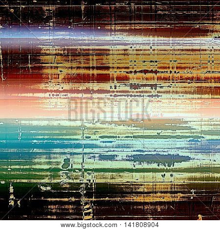Retro background, antique texture for abstract vintage design composition. With different color patterns: yellow (beige); brown; green; blue; red (orange); white