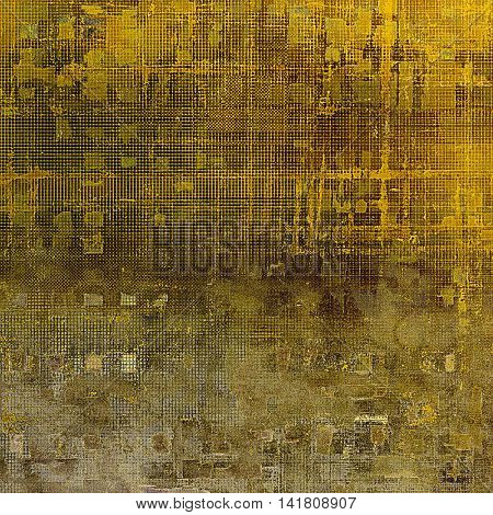 Old style design, textured grunge background with different color patterns: yellow (beige); brown; gray