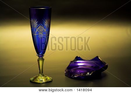 Still Life With Blue Glass.