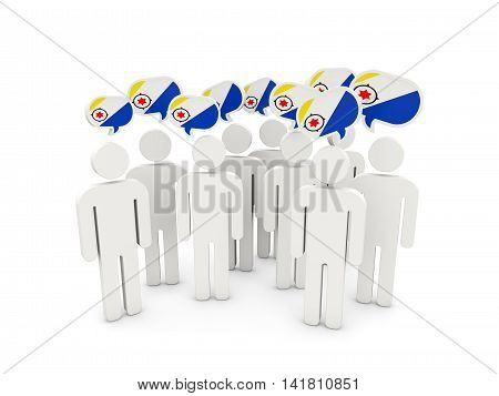 People With Flag Of Bonaire