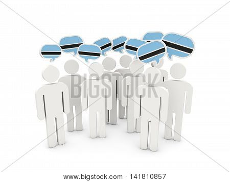 People With Flag Of Botswana