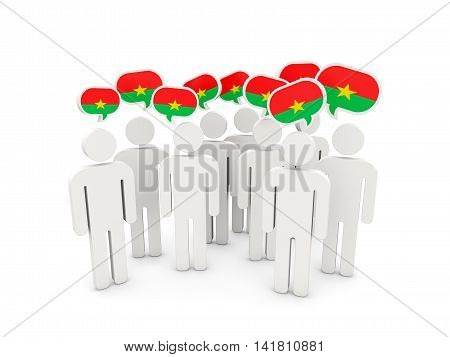 People With Flag Of Burkina Faso