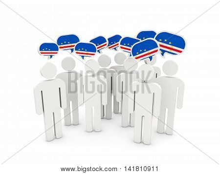 People With Flag Of Cape Verde