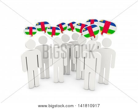 People With Flag Of Central African Republic