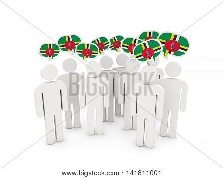 People With Flag Of Dominica