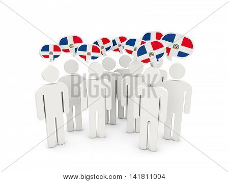 People With Flag Of Dominican Republic