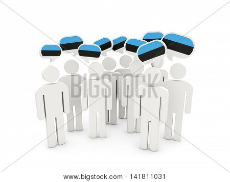 People With Flag Of Estonia