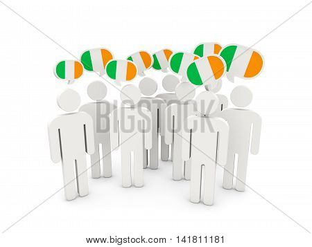 People With Flag Of Ireland