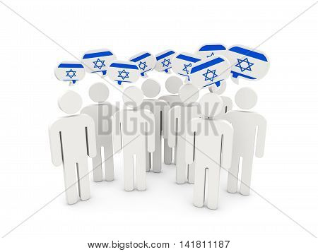 People With Flag Of Israel