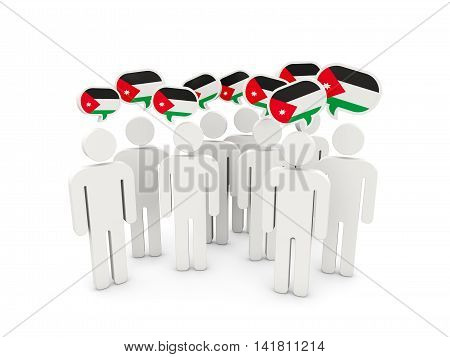 People With Flag Of Jordan