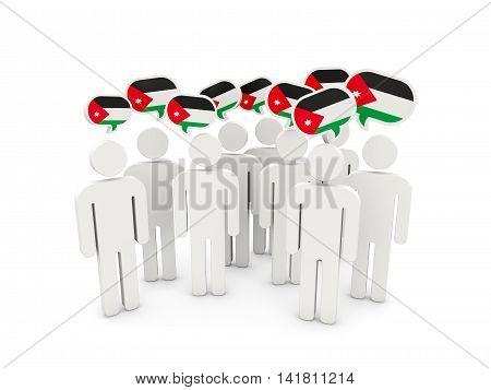 People With Flag Of Jordan