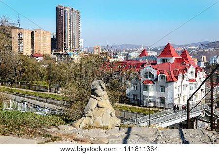 City Vladivostok near the oceanFar Vladivostok on the Pacific coast