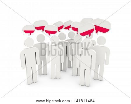 People With Flag Of Poland