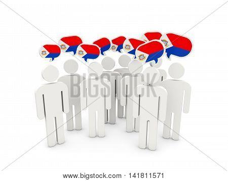 People With Flag Of Sint Maarten