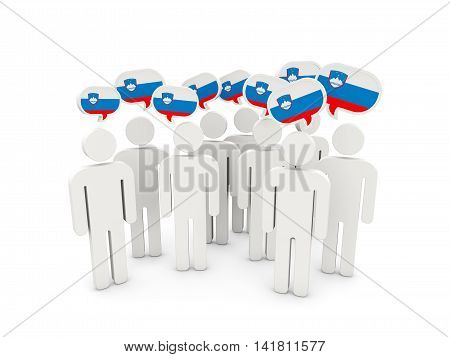 People With Flag Of Slovenia