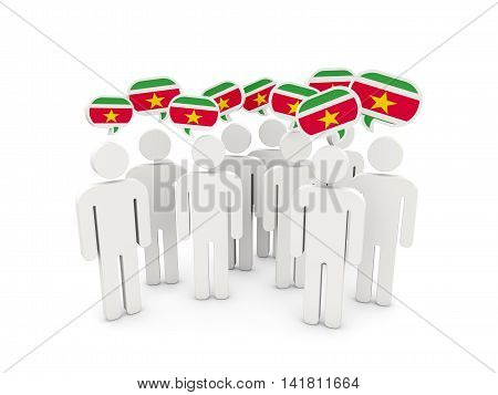 People With Flag Of Suriname